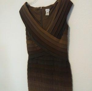 Cache Brown Ombre Bodycon Dress
